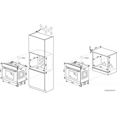 Электрический духовой шкаф Hansa BOES69422