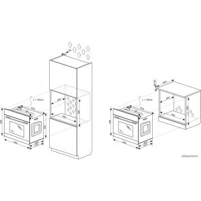 Электрический духовой шкаф Hansa BOEW68427