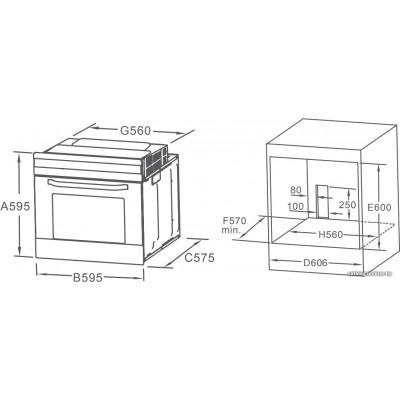 Электрический духовой шкаф Midea MO 68100 GB