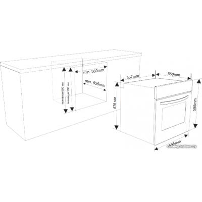 Электрический духовой шкаф Weissgauff EOA 69 OW