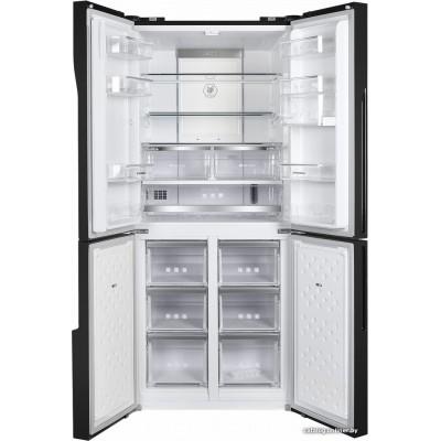 Четырёхдверный холодильник MAUNFELD MFF182NFB