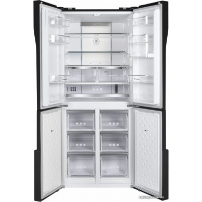 Четырёхдверный холодильник MAUNFELD MFF182NFSB