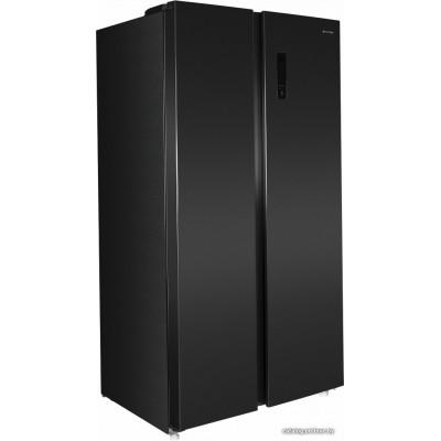 Холодильник side by side MAUNFELD MFF177NFSB