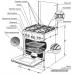 Кухонная плита GEFEST 5100-02 0001 (чугунные решетки)